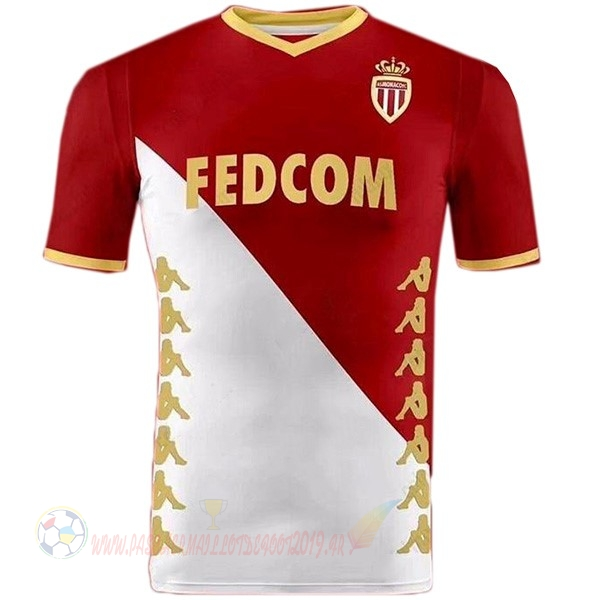 Destockage Maillot De Foot Kappa DomiChili Maillot As Monaco 2019 2020 Rouge Blanc