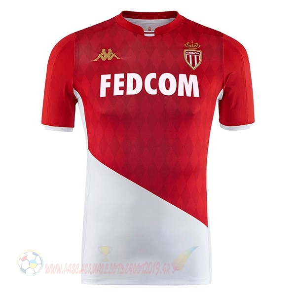 Destockage Maillot De Foot Kappa Domicile Maillot AS Monaco 2019 2020 Rouge Blanc