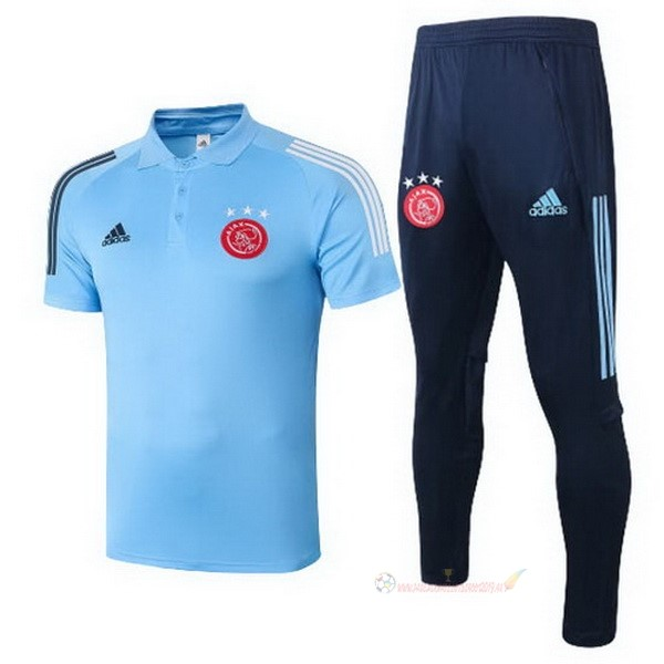 Destockage Maillot De Foot adidas Ensemble Complet Polo Ajax 2020 2021 Bleu