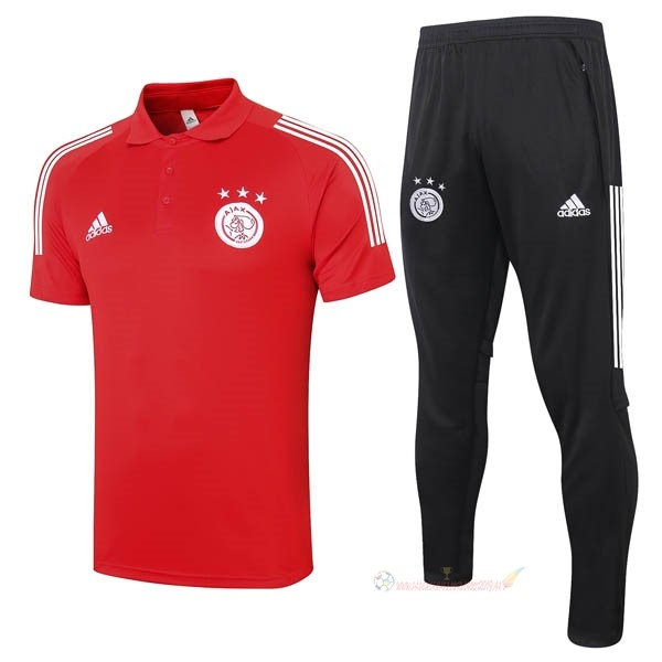 Destockage Maillot De Foot adidas Ensemble Complet Polo Ajax 2020 2021 Rouge Noir