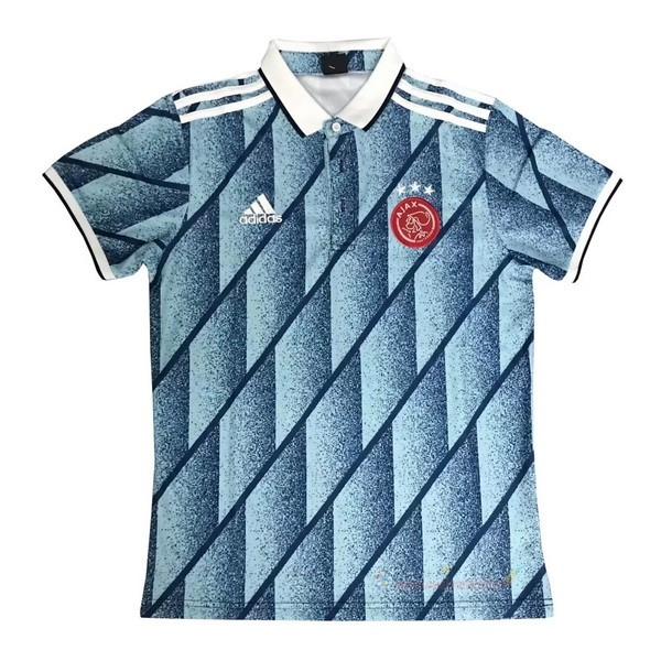 Destockage Maillot De Foot adidas Polo Ajax 2020 2021 Bleu