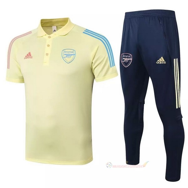 Destockage Maillot De Foot adidas Ensemble Complet Polo Arsenal 2020 2021 Jaune