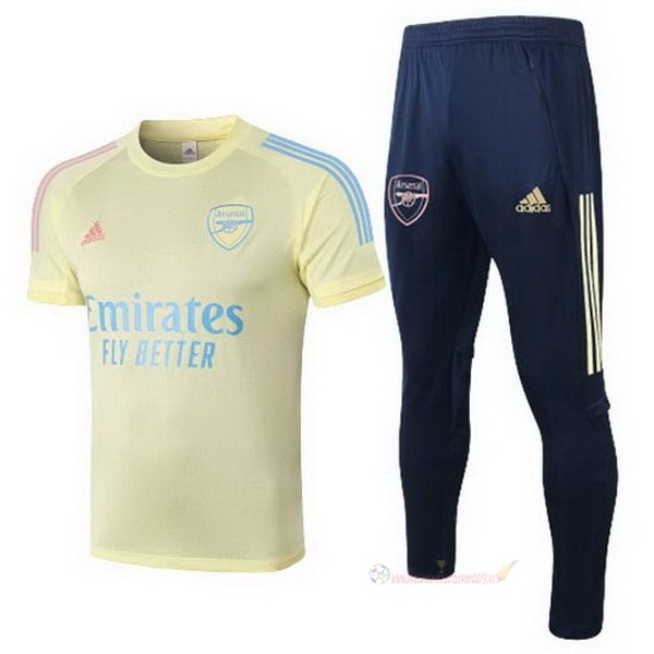 Destockage Maillot De Foot adidas Entrainement Ensemble Complet Arsenal 2020 2021 Jaune