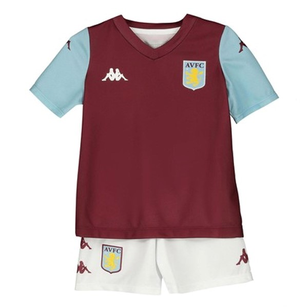 Destockage Maillot De Foot Kappa Domicile Ensemble Enfant Aston Villa 2019 2020 Rouge
