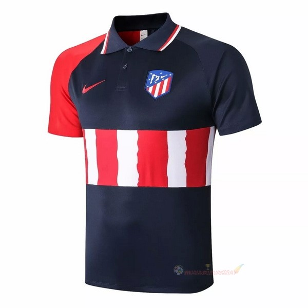 Destockage Maillot De Foot Nike Polo Atlético Madrid 2020 2021 Noir Rouge