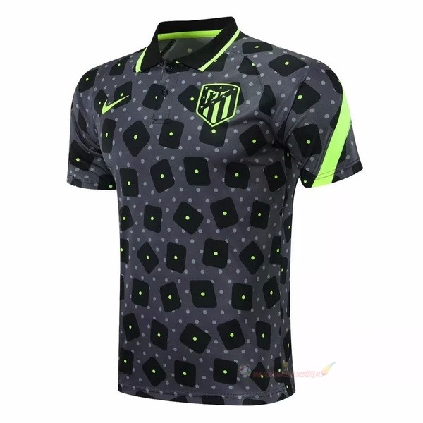 Destockage Maillot De Foot Nike Polo Atlético Madrid 2020 2021 Noir Gris