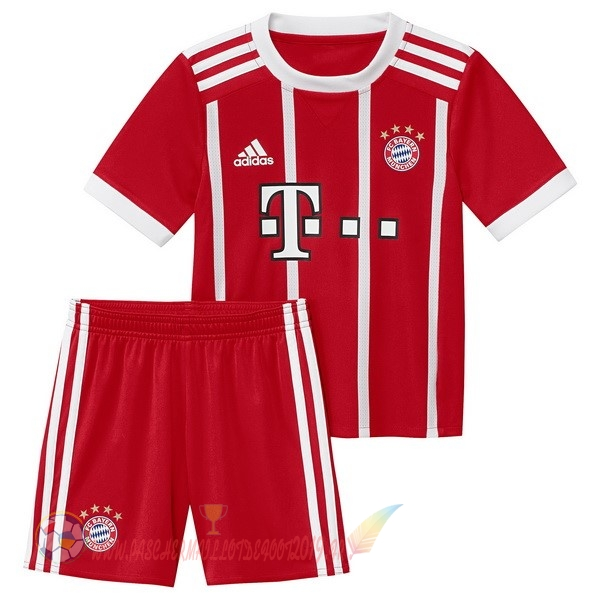 Destockage Maillot De Foot adidas Domicile Ensemble Enfant Bayern Munich 2017 2018 Rouge