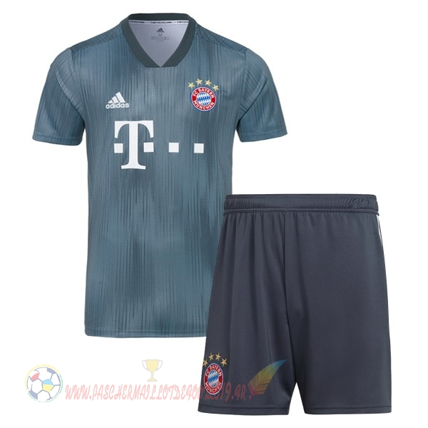 Destockage Maillot De Foot adidas Third Ensemble Enfant Bayern Munich 18-19 Gris
