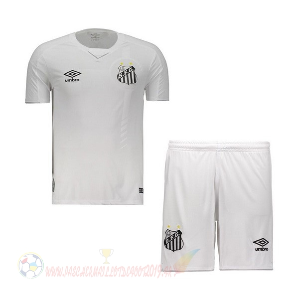 Destockage Maillot De Foot umbro Domicile Ensemble Enfant Santos 2019 2020 Blanc