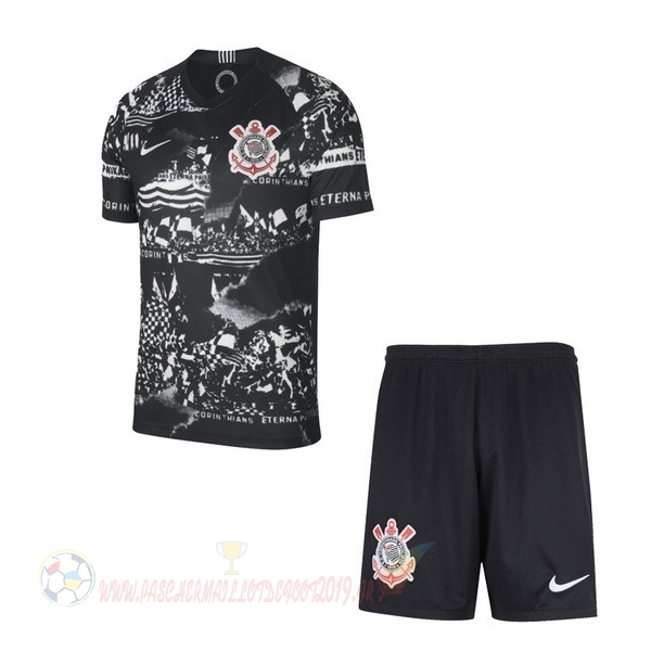 Destockage Maillot De Foot Nike Third Ensemble Enfant Corinthians Paulista 2019 2020 Noir