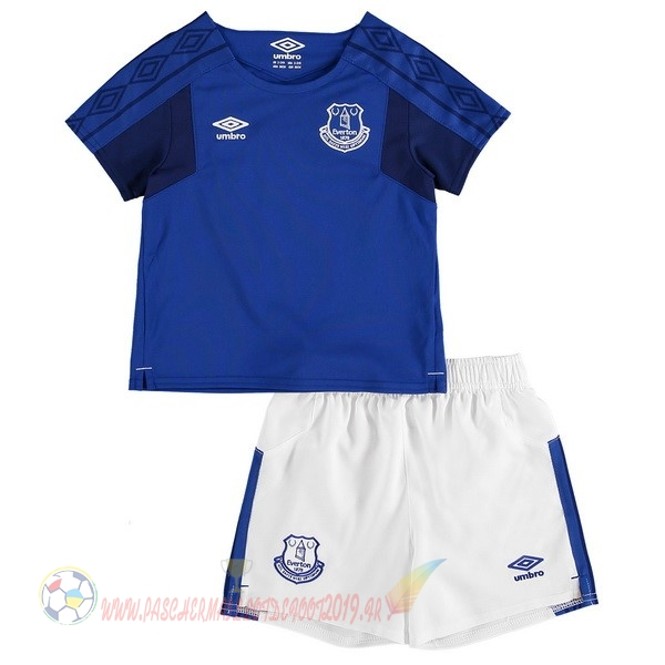 Destockage Maillot De Foot umbro Domicile Ensemble Enfant Everton 2017 2018 Bleu Blanc