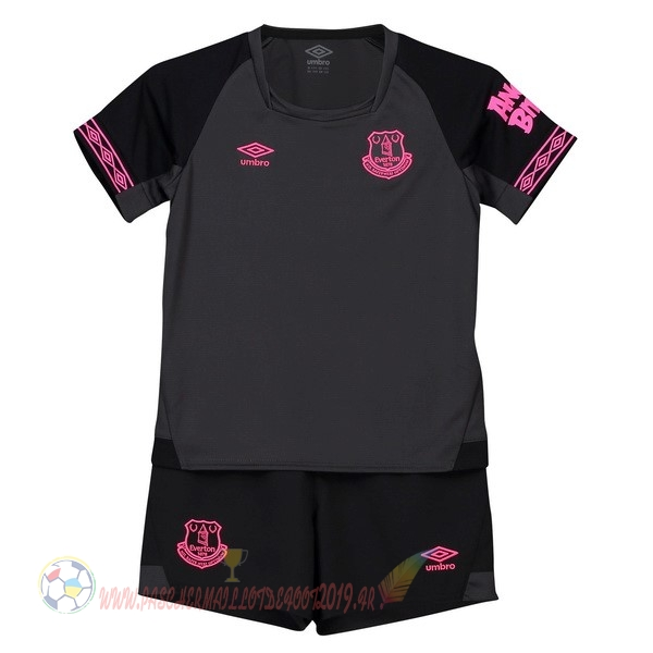 Destockage Maillot De Foot umbro Exterieur Ensemble Enfant Everton 2018-2019 Noir