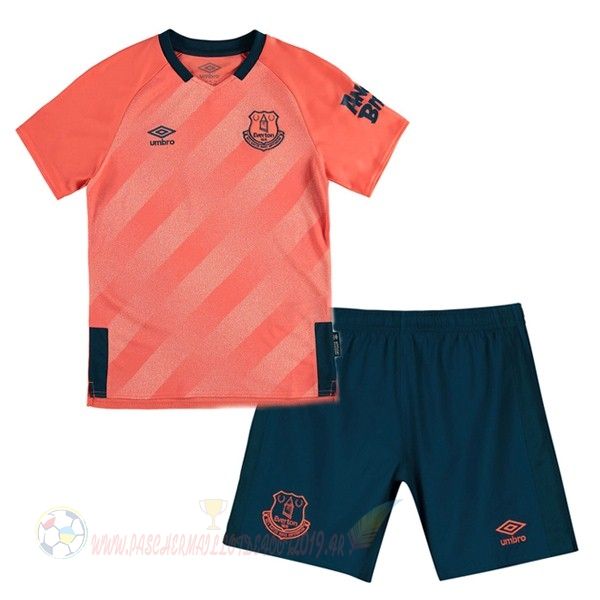 Destockage Maillot De Foot Umbro Exterieur Ensemble Enfant Everton 2019 2020 Orange