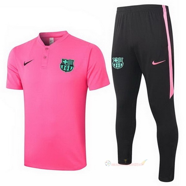 Destockage Maillot De Foot Nike Ensemble Complet Polo Barcelone 2020 2021 Rose Noir