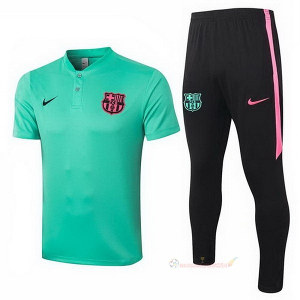 Destockage Maillot De Foot Nike Ensemble Complet Polo Barcelone 2020 2021 Vert Noir