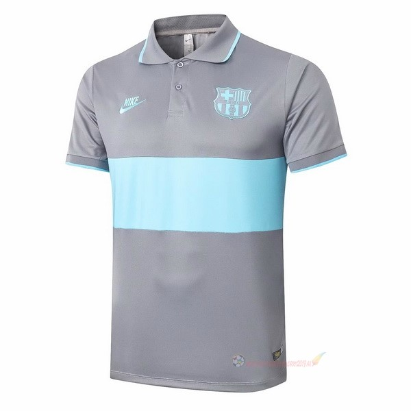 Destockage Maillot De Foot Nike Polo Barcelone 2020 2021 Gris Bleu