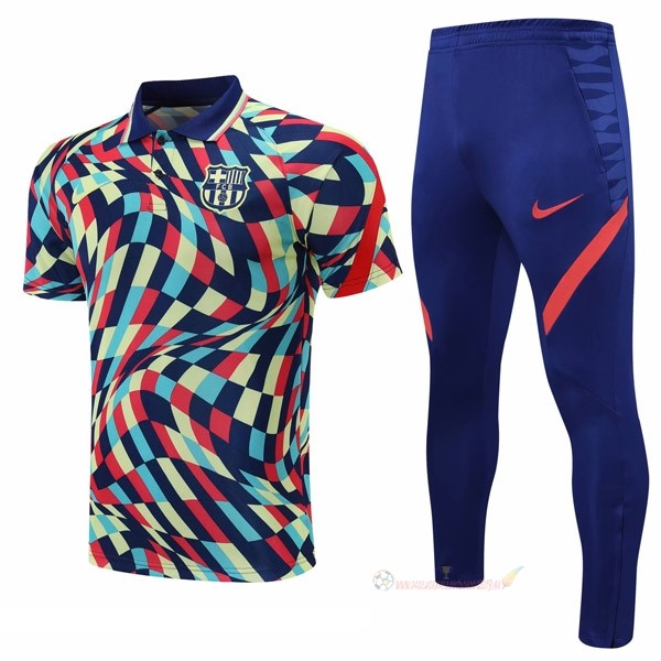 Destockage Maillot De Foot Nike Ensemble Complet Polo Barcelona 2021 2022 Jaune Bleu