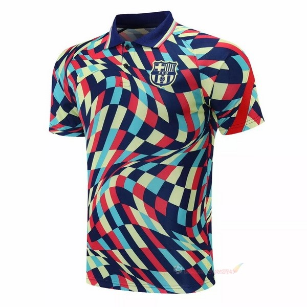Destockage Maillot De Foot Nike Polo Barcelona 2021 2022 Jaune Bleu