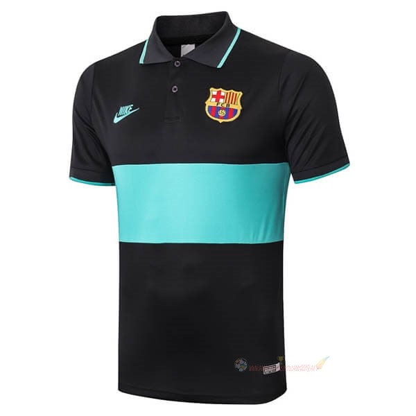Destockage Maillot De Foot Nike Polo Barcelone 2020 2021 Noir Vert