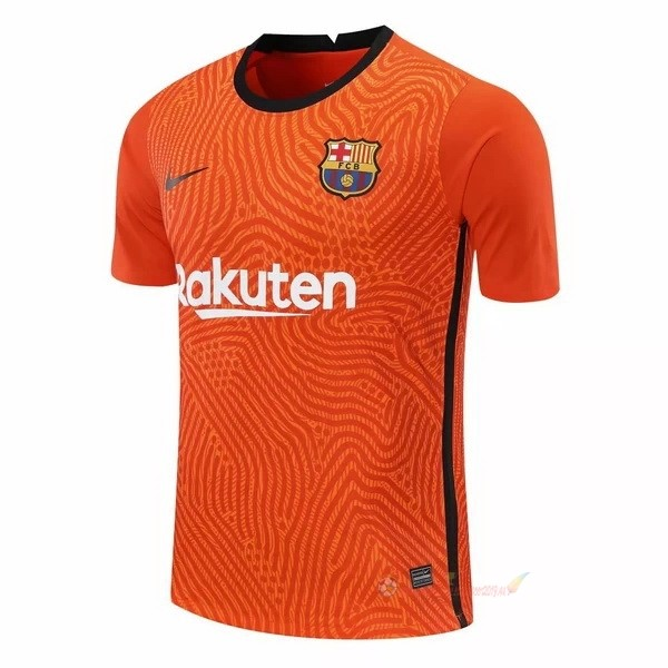 Destockage Maillot De Foot Nike Maillot Gardien Barcelona 2020 2021 Orange