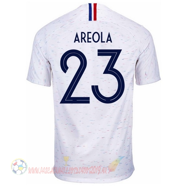 Destockage Maillot De Foot Nike NO.23 Areola Exterieur Maillots France 2018 Blanc