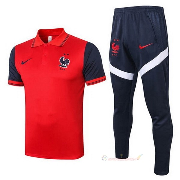 Destockage Maillot De Foot Nike Ensemble Complet Polo France 2020 Rouge Noir