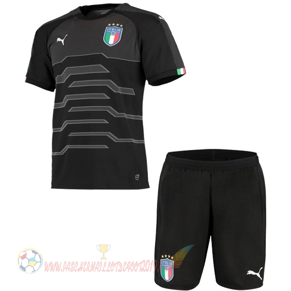 Destockage Maillot De Foot PUMA Ensemble Enfant Gardien Italie 2018 Noir