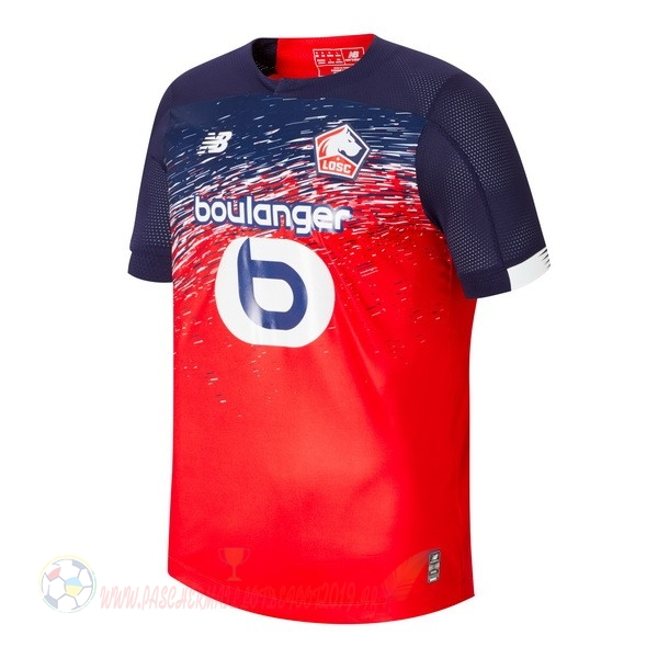 Destockage Maillot De Foot New Balance Domicile Maillot LOSC 2019 2020 Rouge