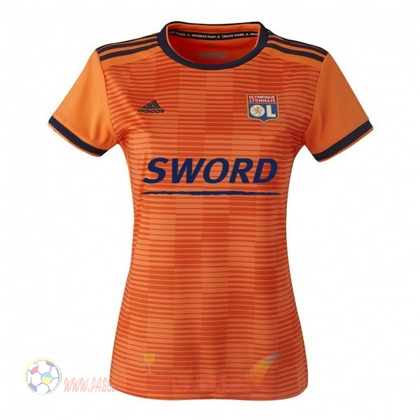 Destockage Maillot De Foot adidas Third Maillots Femme Lyonnais 2018-2019 Orange