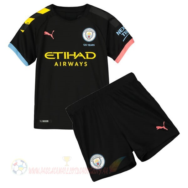 Destockage Maillot De Foot Puma Exterieur Ensemble Enfant Manchester City 2019 2020 Noir