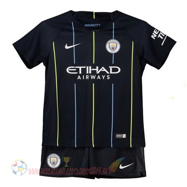 Destockage Maillot De Foot Nike Exterieur Ensemble Enfant Manchester City 2018-2019 Bleu