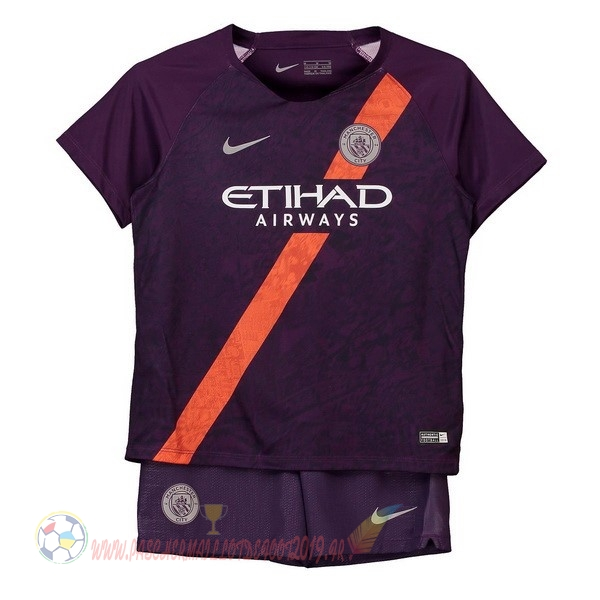Destockage Maillot De Foot Nike Third Ensemble Enfant Manchester City 2018-2019 Purpura
