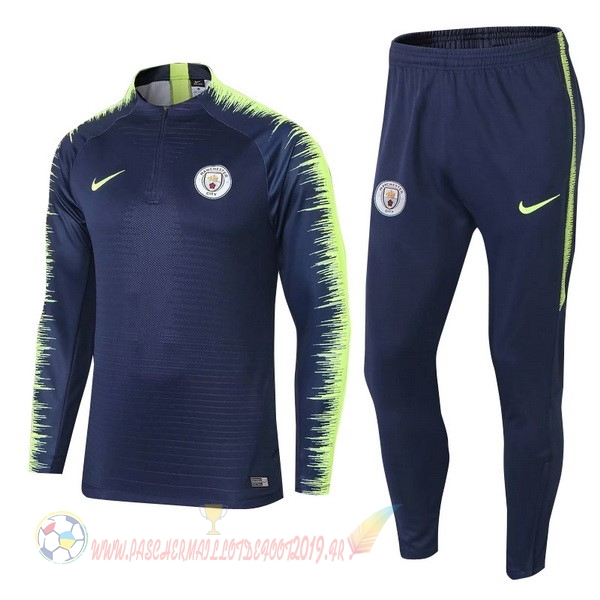 Destockage Maillot De Foot Nike Survêtements Enfant Manchester City 18-19 Bleu