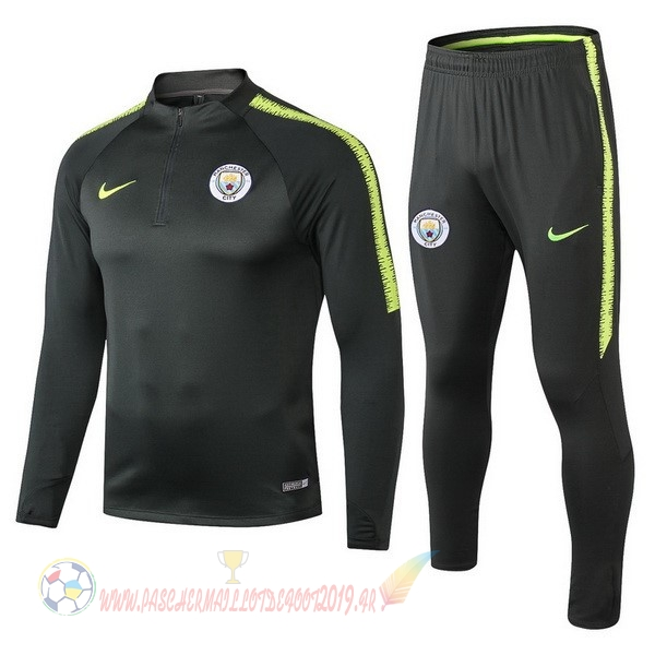 Destockage Maillot De Foot Nike Survêtements Enfant Manchester City 18-19 Vert Marron