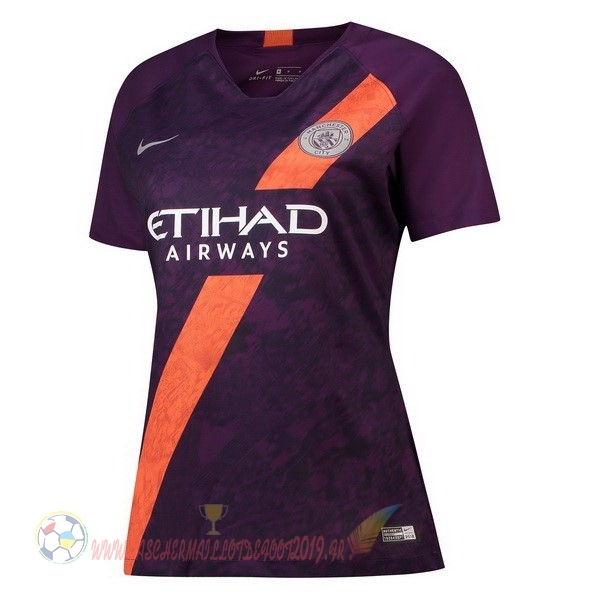 Destockage Maillot De Foot Nike Third Maillots Femme Manchester City 2018-2019 Purpura