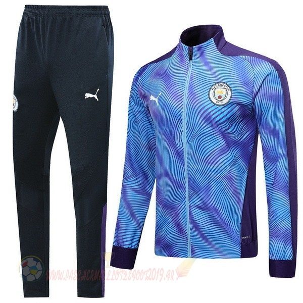 Destockage Maillot De Foot Puma Survêtements Enfant Manchester City 2019 2020 Purpura Bleu