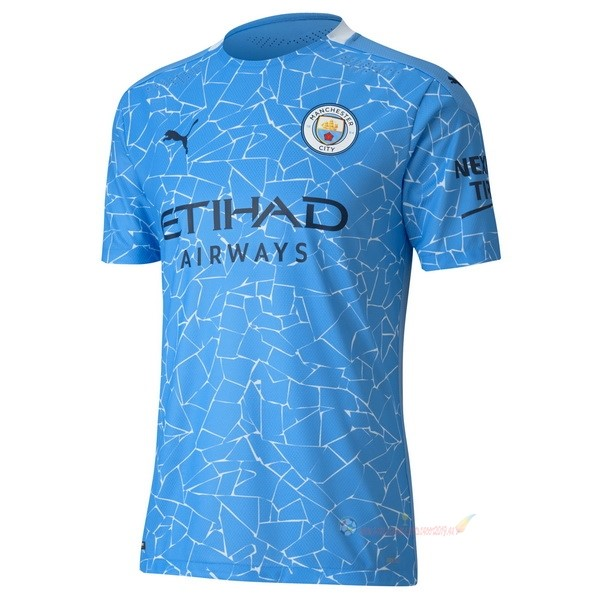 Destockage Maillot De Foot PUMA Domicile Maillot Manchester City 2020 2021 Bleu