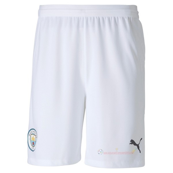 Destockage Maillot De Foot PUMA Domicile Pantalon Manchester City 2020 2021 Blanc