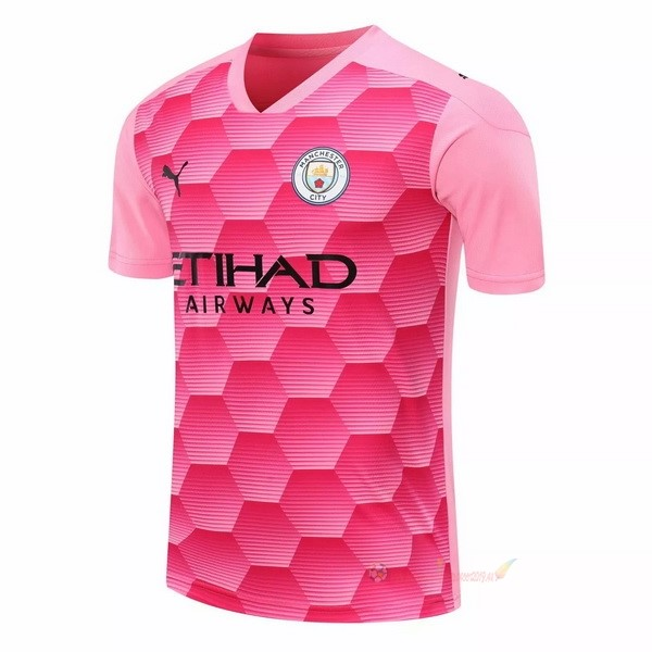 Destockage Maillot De Foot PUMA Third Maillot Gardien Manchester City 2020 2021 Rose