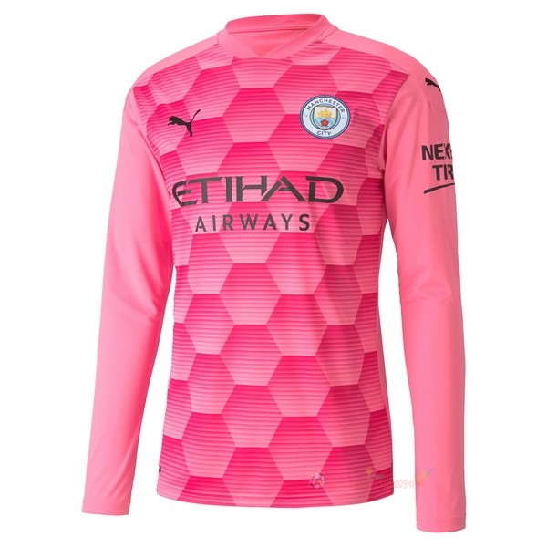 Destockage Maillot De Foot PUMA Third Manches Longues Gardien Manchester City 2020 2021 Rose