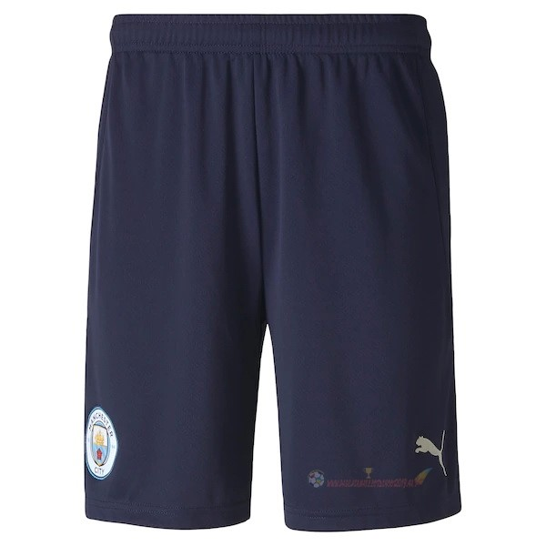 Destockage Maillot De Foot PUMA Third Pantalon Manchester City 2020 2021 Bleu