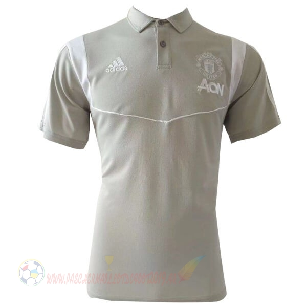 Destockage Maillot De Foot adidas Polo Manchester United 2019 2020 Gris