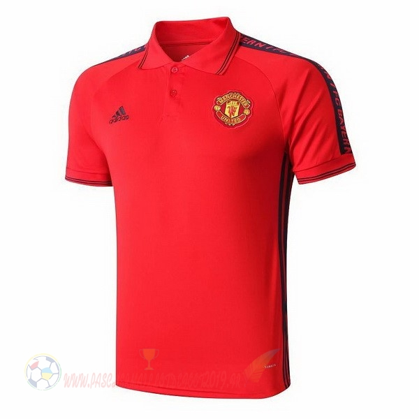 Destockage Maillot De Foot adidas Polo Manchester United 2019 2020 Rouge Jaune