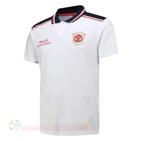 Destockage Maillot De Foot adidas Polo Manchester United 20th Blanc
