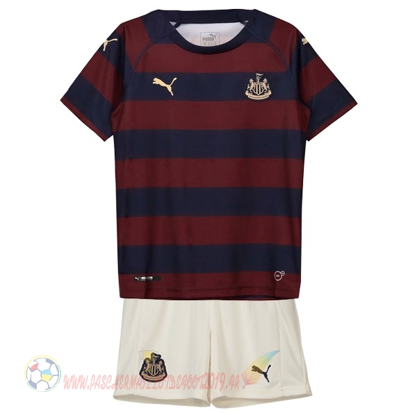 Destockage Maillot De Foot PUMA Exterieur Ensemble Enfant Newcastle United 2018-2019 Rouge Noir