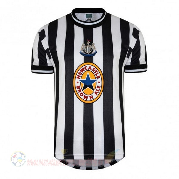 Destockage Maillot De Foot adidas Domicile Maillot Newcastle United Retro 1997 1998 Noir Blanc
