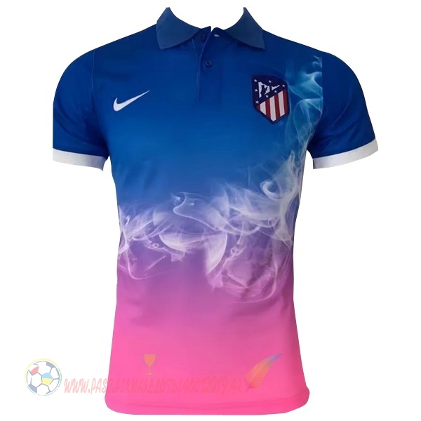 7a4c7d5274e71 Destockage Maillot De Foot Nike Polo Atlético de Madrid 2017 2018 Bleu Rose