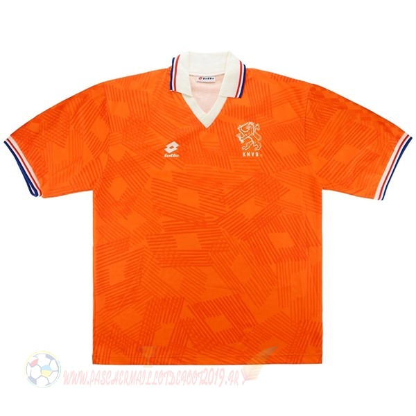 Destockage Maillot De Foot Lotto Domicile Maillot Pays Bas Retro 1991 1992 Orange
