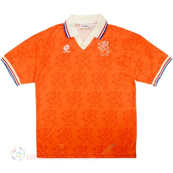 Destockage Maillot De Foot Lotto Domicile Maillot Pays Bas Retro 1995 Orange