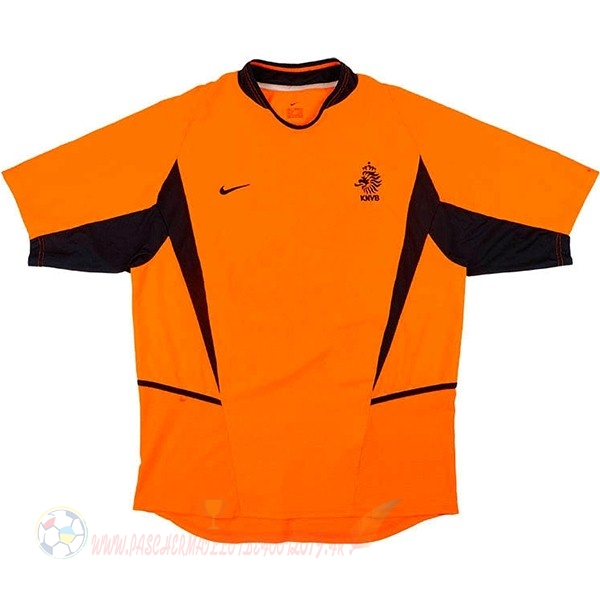Destockage Maillot De Foot Nike Domicile Maillot Pays Bas Retro 2002 Orange